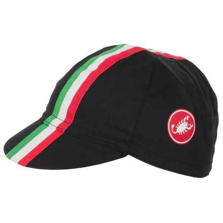 Castelli Retro 2 Cycling Cap (For Men and Women) in Black - Closeouts