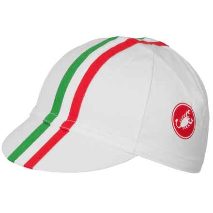 Castelli Retro 2 Cycling Cap (For Men and Women) in Washed White - Closeouts