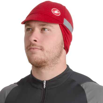 Castelli Risvolto Due Bike Hat (For Men and Women) in Ruby Red - Closeouts