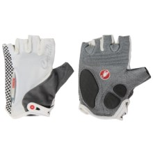 Castelli Rosso Corsa Bike Gloves - Fingerless (For Women) in White/Black - Closeouts