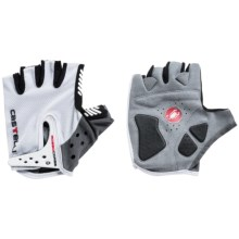 Castelli S. Rosso Corsa Bike Gloves - Fingerless (For Men) in White/Grey - Closeouts