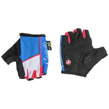 Castelli S2. Corsa Gloves - Fingerless (For Women) in Drive Blue/White/Red - Closeouts
