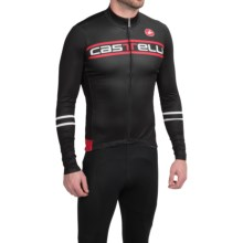 Castelli Segno Cycling Jersey - Long Sleeve (For Men) in Black - Closeouts