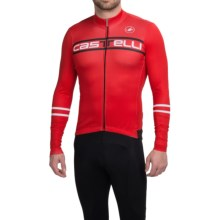 Castelli Segno Cycling Jersey - Long Sleeve (For Men) in Red - Closeouts