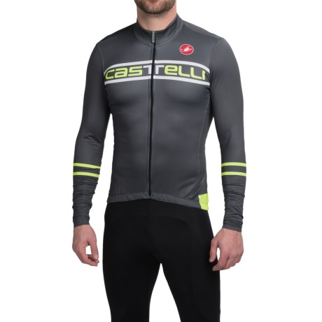 Castelli Segno Cycling Jersey Long Sleeve (For Men)