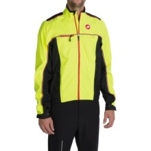 Castelli Sella Cycling Rain Jacket - Waterproof (For Men) in Yellow Fluo/Black - Closeouts