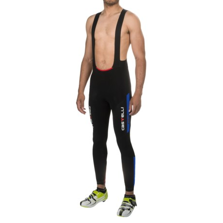Castelli Sorpasso Cycling Bib Tights (For Men) in Black/Drive Blue