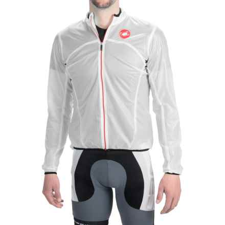 Castelli Sottile Due Cycling Jacket (For Men) in Transparent White - Closeouts