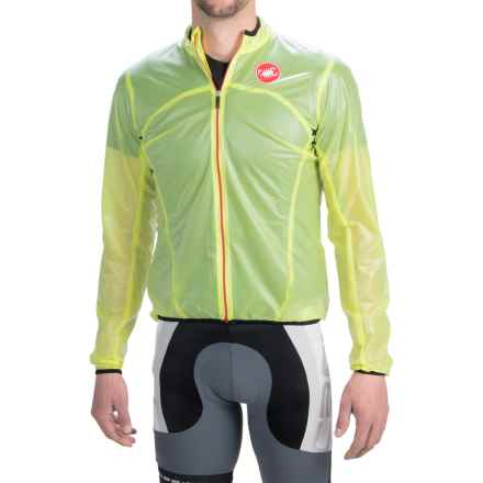 Castelli Sottile Due Cycling Jacket (For Men) in Yellow Fluo - Closeouts