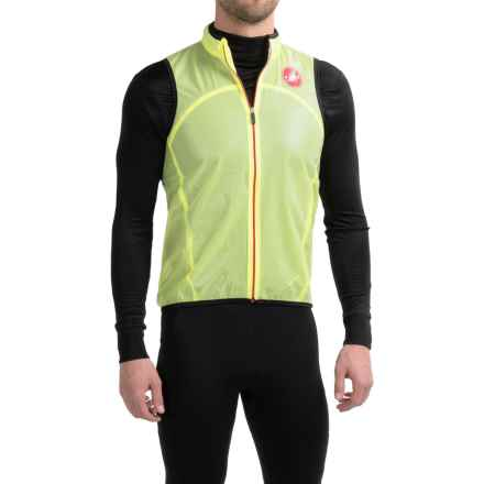 Castelli Sottile Due Cycling Vest (For Men) in Yellow Fluo - Closeouts