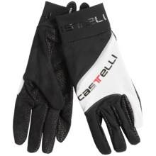 Castelli Super Nano Cycling Gloves (For Men and Women) in 001/010 White/Black - Closeouts