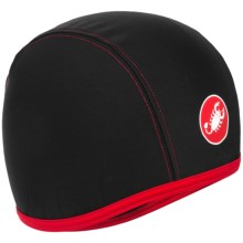 Castelli Thermo Skully Cycling Cap (For Men) in Black - Closeouts
