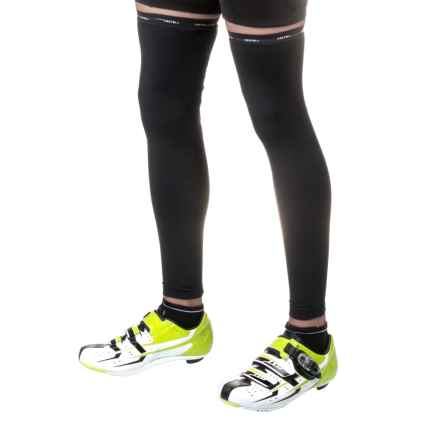 Castelli Thermoflex Classic Cycling Leg Warmers (For Men) in Black/Red - Closeouts