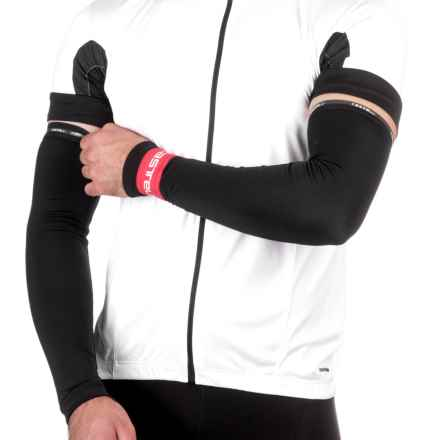 Castelli Thermoflex Cycling Arm Warmers (For Men) in Black/Red - Closeouts
