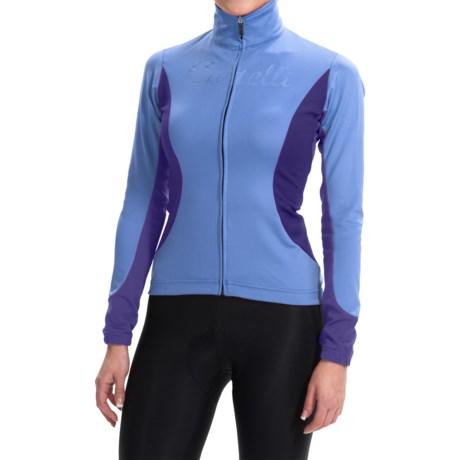 Castelli Trasparente 2 Windstopper® Cycling Jersey - Full Zip, Long Sleeve (For Women) in Blue Yonder