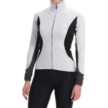 Castelli Trasparente 2 Windstopper® Cycling Jersey - Full Zip, Long Sleeve (For Women) in White - Closeouts