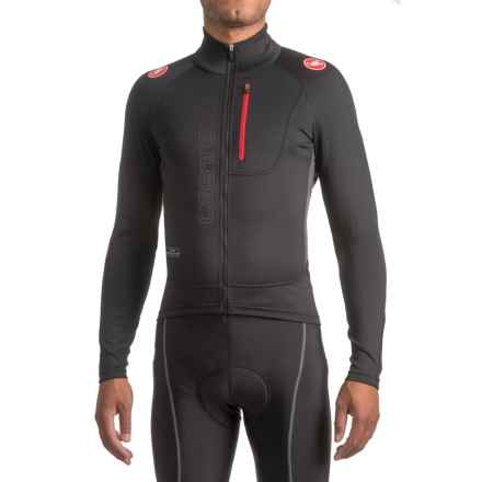 Castelli Trasparente 3 Windstopper® Cycling Jersey - Full Zip, Long Sleeve (For Men) in Black/Anthracite - Closeouts