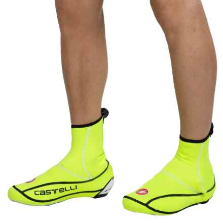Castelli Ultra Windstopper® Cycling Shoe Covers (For Men) in Yellow Fluo - Closeouts