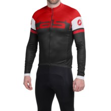 Castelli Unavolta Cycling Jersey - Full Zip, Long Sleeve (For Men) in Black/Red - Closeouts