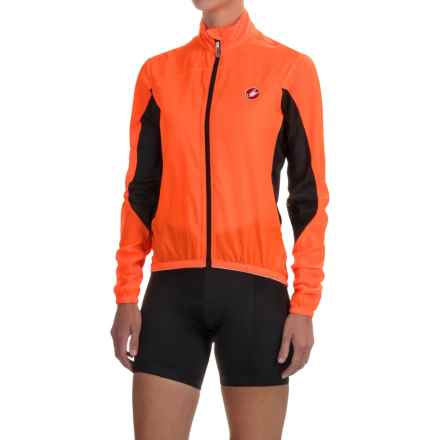 Castelli Velo Cycling Jacket (For Women) in Orange Fluo - Closeouts