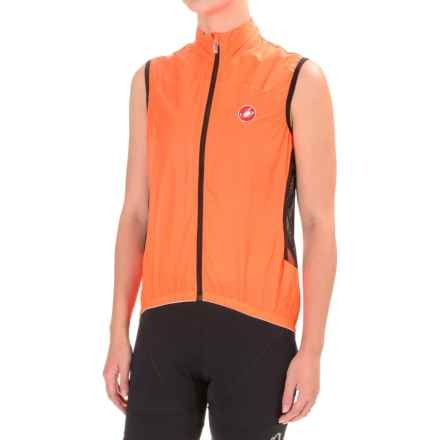 Castelli Velo Cycling Vest (For Women) in Orange Fluo - Closeouts