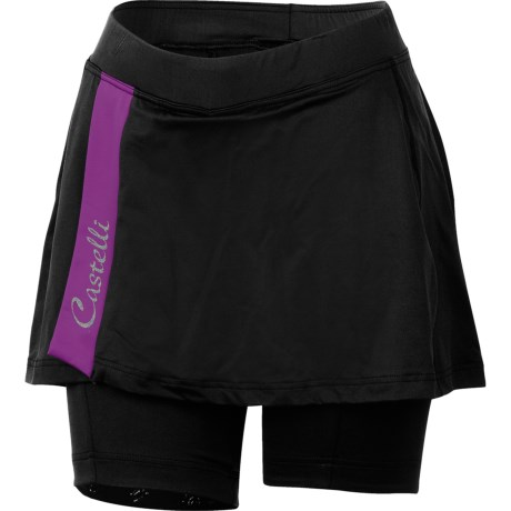 Castelli Venere Cycling Skort (For Women) in Black/Cyclamen