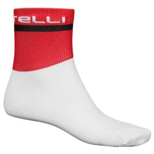 Castelli Volo 9 Cycling Socks - Crew (For Men) in White - Closeouts