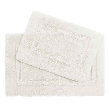Castile Home Textiles Double Racetrack Bath Rugs - 2-Pack, Egyptian Cotton in True White - Overstock