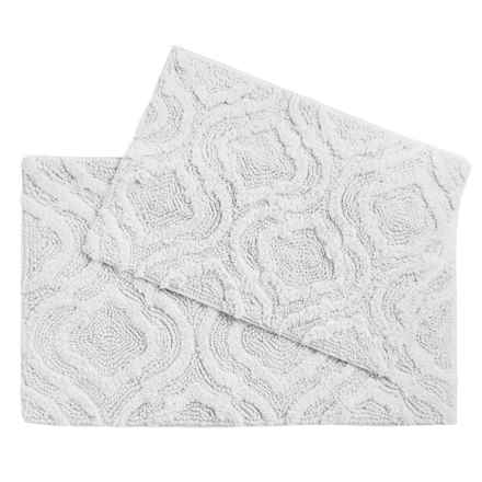 Castile Home Textiles Geo-Patterned Bath Rugs - 2-Pack, Cotton Chenille in Solid White - Overstock
