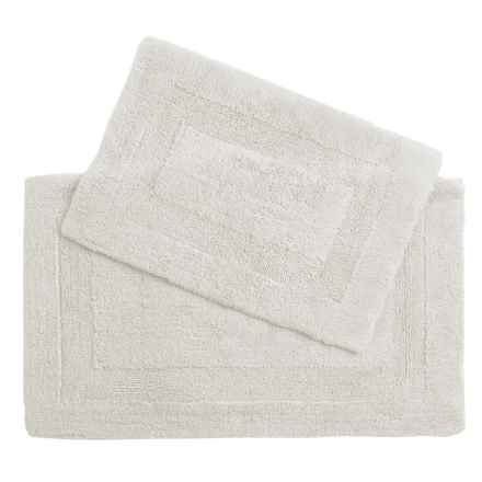 Castile Home Textiles Malta Bath Rugs - 2-Pack, Egyptian Cotton in True White - Overstock