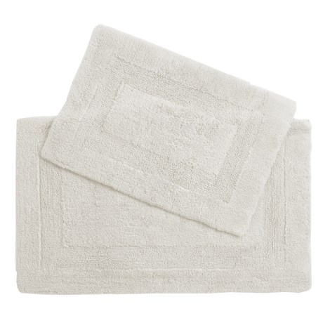 Castile Home Textiles Malta Bath Rugs - 2-Pack, Egyptian Cotton in True White