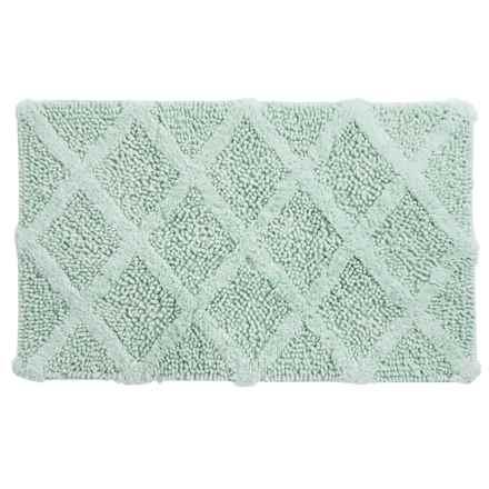 "Castile Home Textiles Textured Bath Rug - 20x32"", Cotton Chenille in Aqua - Overstock"