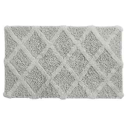 """Castile Home Textiles Textured Bath Rug - 20x32"""", Cotton Chenille in Silver - Overstock"""