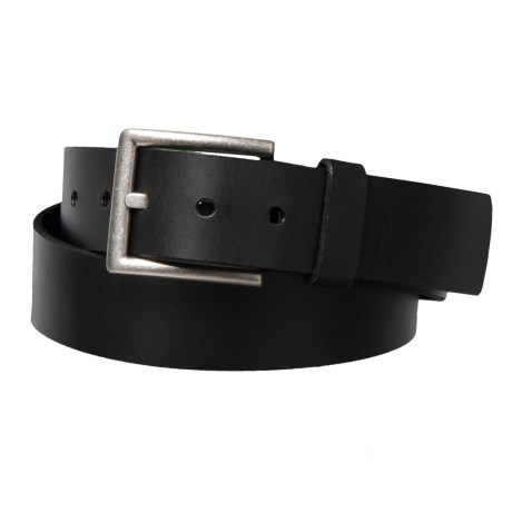 Image of Casual Single-Loop Leather Belt with Metal Buckle (For Men)