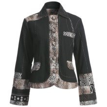 Casual Studio Animal Print Jacket - Cotton Canvas (For Women) in Black/Leopard - Closeouts