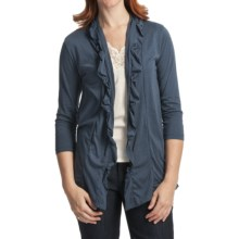 Casual Studio Jersey Knit Cardigan Sweater - 3/4 Sleeve (For Women) in Denim - Closeouts