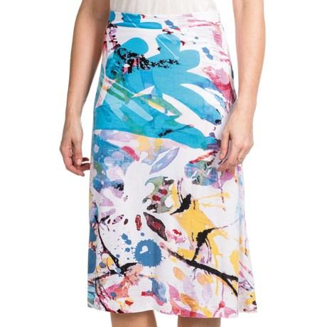 Casual Studio Knit Jersey Skirt (For Women) in Banana