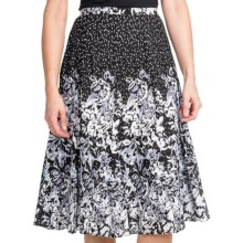 Casual Studio Patterned Cotton Skirt (For Women) in Black/Grey - Closeouts