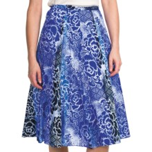 Casual Studio Patterned Cotton Skirt (For Women) in Blue Rose - Closeouts