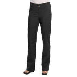 Casual Studio Stretch Cotton Pants (For Women) in Black