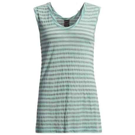 Casual Studio Striped Tank Top (For Women) in Aqua