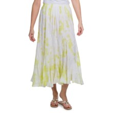 Casual Studio Swirl Cotton Voile Skirt (For Women) in Pale Lime Tie Dye - Closeouts
