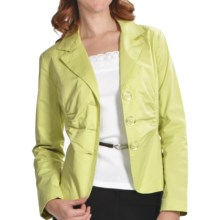 Casual Studio Three-Button Jacket (For Women) in Lime - Closeouts