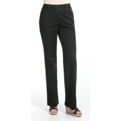 Casual Studios Low Waist Pants - Stretch Cotton (For Women) in Black