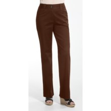 Casual Studios Low Waist Pants - Stretch Cotton (For Women) in Coffee - Closeouts