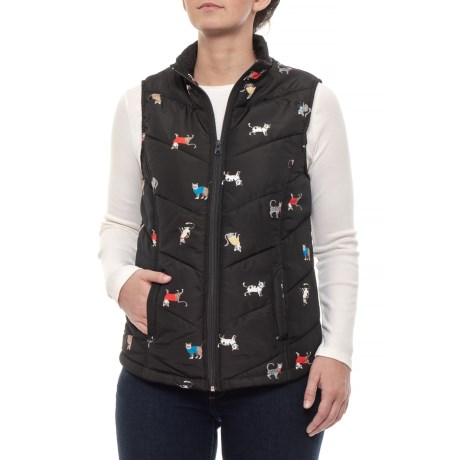 Image of Cat Quilted Vest - Insulated (For Women)