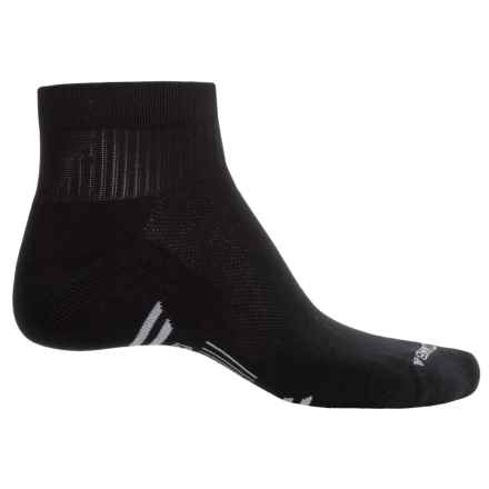 Catawba Comfort Socks - Quarter Crew (For Men) in Black - Closeouts