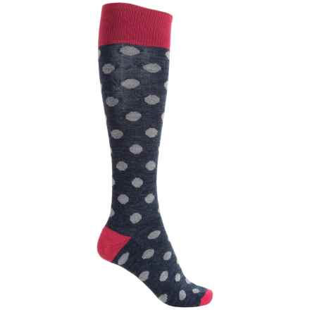 Catawba Dots Fashion Socks - Over the Calf (For Women) in Pink - Closeouts