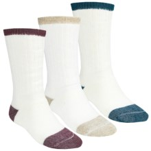 Catawba Light Color Boot Socks - 3-Pack, Merino Wool Blend, Midweight, Crew (For Men) in Combo Of Wine/Navy/Tan - Closeouts