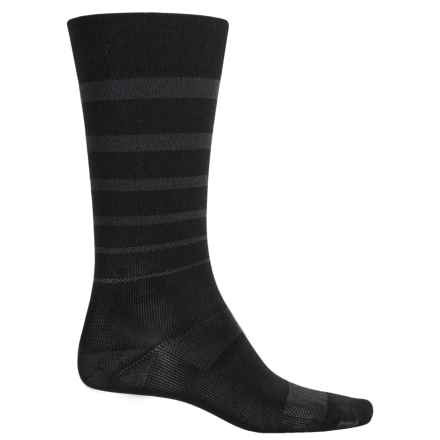 Catawba Stripe Compression Socks - Over the Calf (For Men and Women) in Black/Black - Closeouts